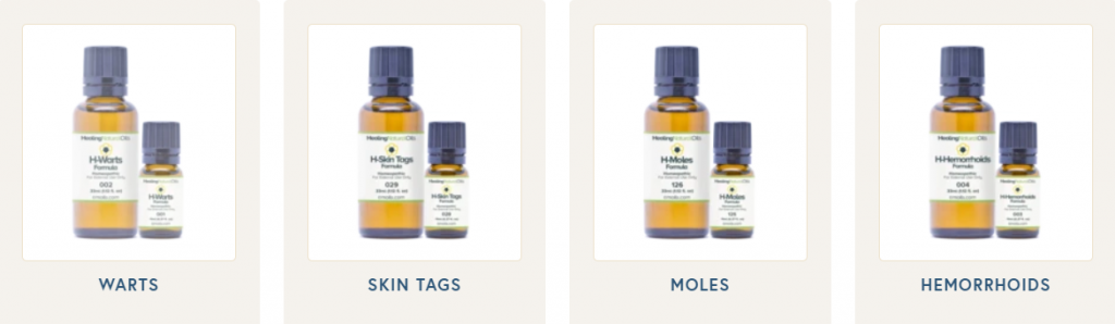 Range of oils by Healing Natural Oils by Amoils