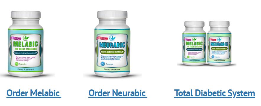 eGlobal Natural Health - Melabic Neurabic and Total Diabetic System order