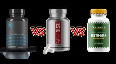 Performer 8 vs TestoPrime vs Crazybulk Testo-Max Comparison by Larry Beinhart
